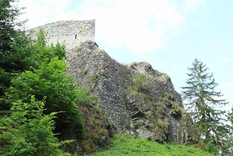 Dungeon na grodowym czechu Sternberk fotografia royalty free