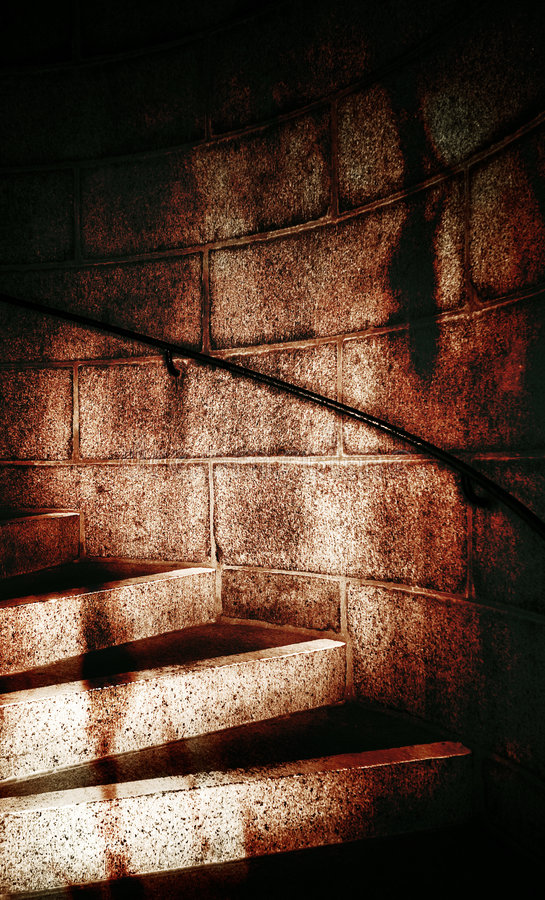 Dungeon Staircase stock photo