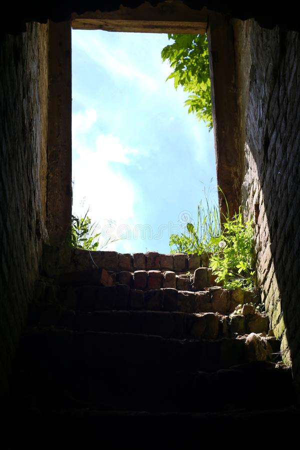 Download Dungeon stairs to the exit stock photo. Image of arch - 118028370 & Dungeon stairs to the exit stock photo. Image of arch - 118028370