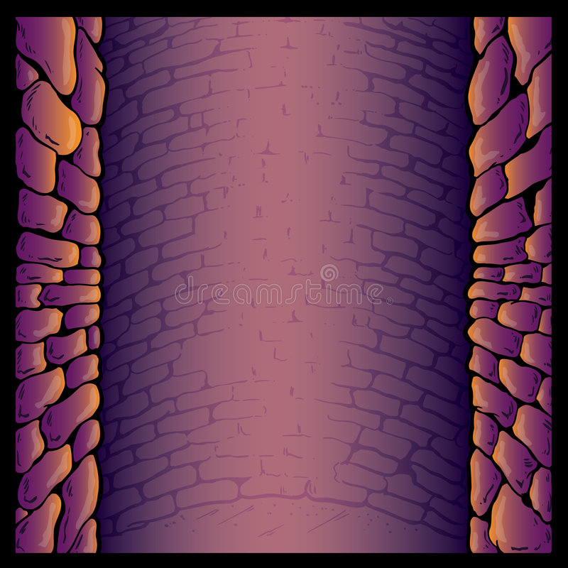 Dungeon stone wall background vector illustration. Fully editable stock illustration