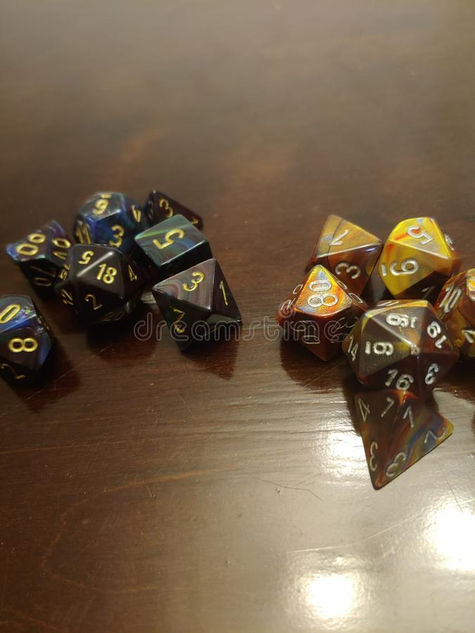 Dungeons dragons dice d20 roll stock images
