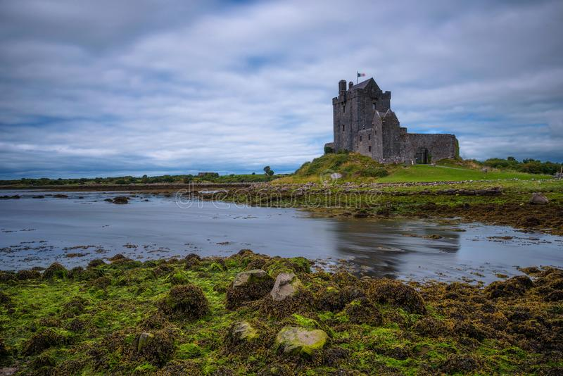 Dunguaire Castle in County Galway near Kinvarra, Ireland stock images