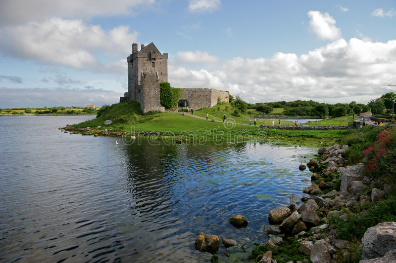 Dunguaire Castle, Kinvara Bay, Galway, Ireland stock images