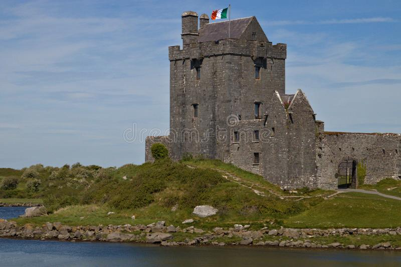 Dunguaire Castle a Tower House on the shore of Galway Bay in County Galway, Ireland, near Kinvara royalty free stock image