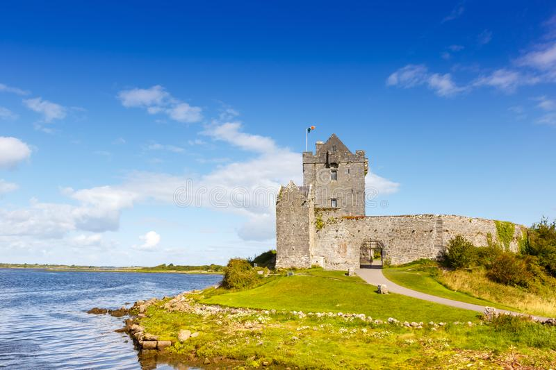 Dunguaire Castle tower Ireland traveling travel middle ages. Travelling royalty free stock photography
