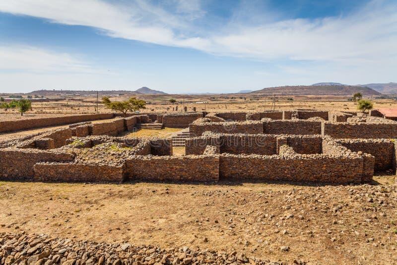 Dungur - fördärvar av slotten av drottningen Sheba på royaltyfri foto