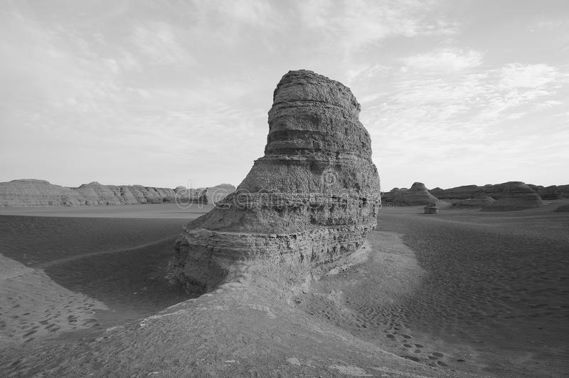 Dunhuang demon city stock images