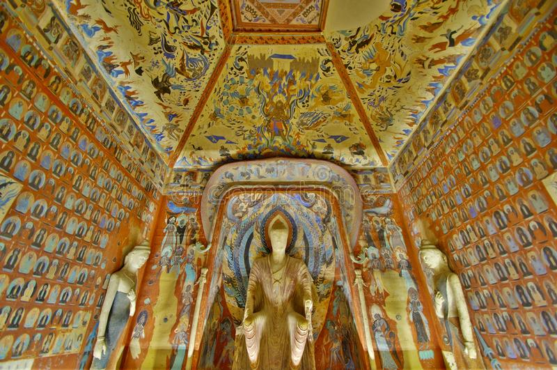Dunhuang frescoesï ¼ Mogao Jaskiniowy ï ¼ obrazy stock