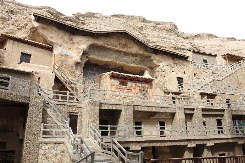 Dunhuang-mogao Grotten lizenzfreie stockfotos