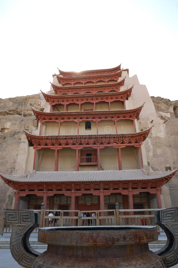 Dunhuang mogao groty obrazy royalty free