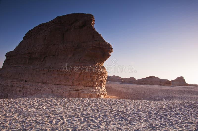 Dunhuang Yadan National Geologic Park Stock Images