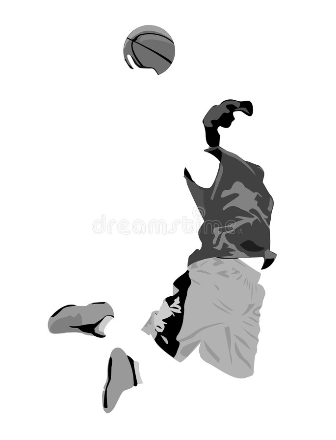 Download Dunk stock illustration. Image of basketball, illustration - 361374