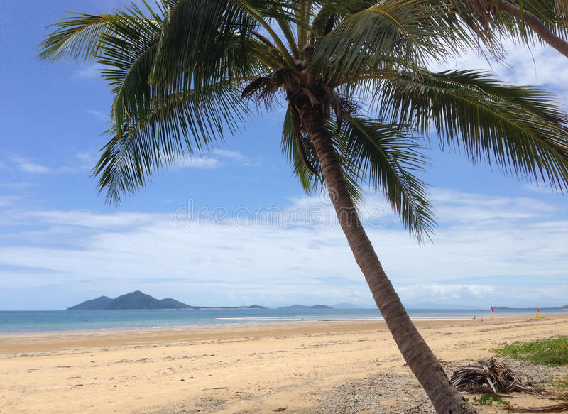 Dunk Island View. View from the beach of Dunk (Coonanglebah) Island Mission Beach royalty free stock photography