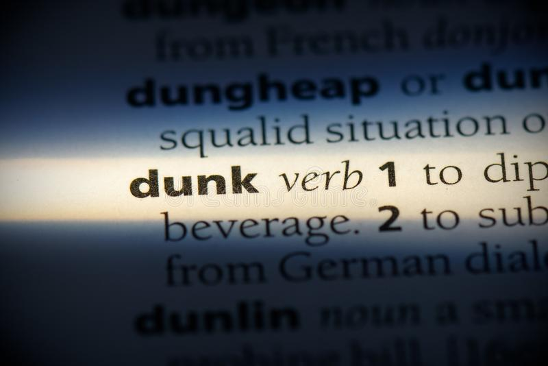 Dunk foto de stock royalty free
