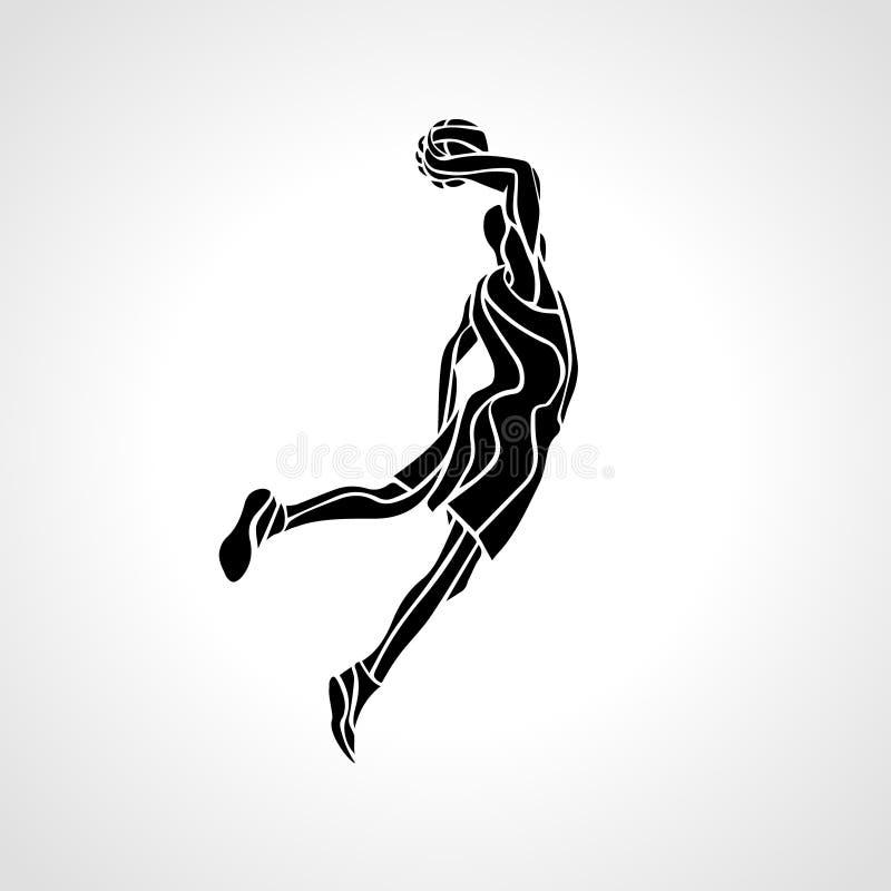 dunk silhouetteslamen royaltyfri illustrationer