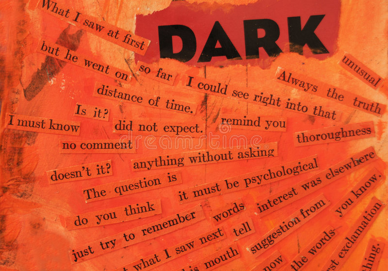 Dunkel lizenzfreies stockbild