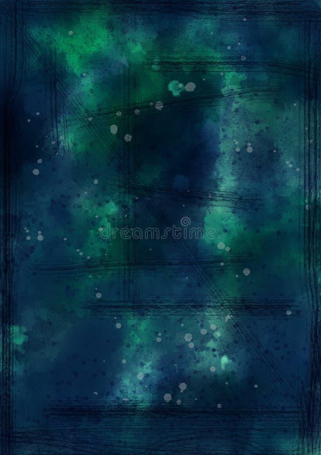 Dunkel, Grungy, strukturiert, Watercolour-Hintergrund stock abbildung