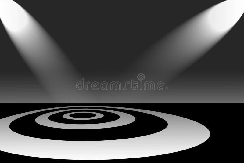dunkel ljus fläck mycket vektor illustrationer