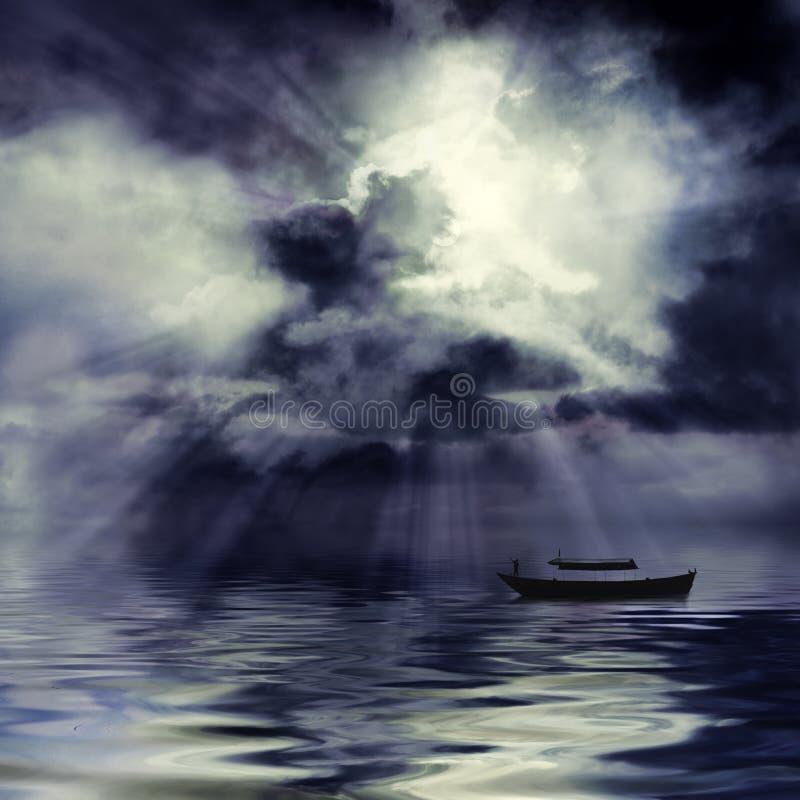 Dunkel und stürmisch stockfoto