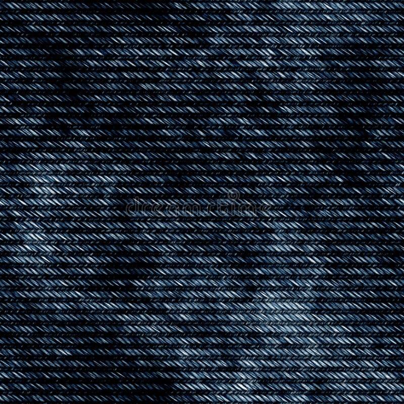 Dunkelblaue Baumwollstoffbeschaffenheit der nahtlosen hohen Qualität stock abbildung