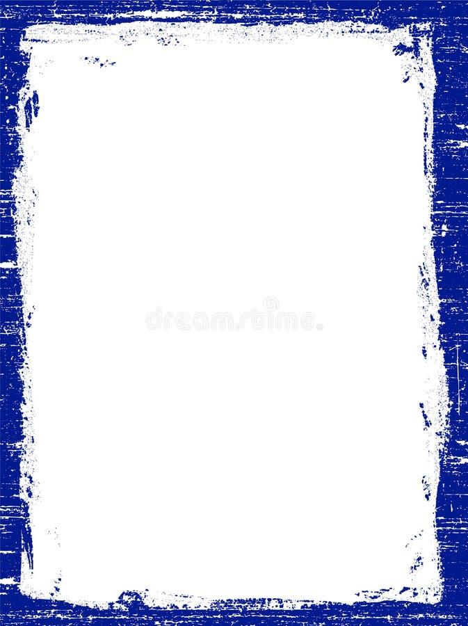Dunkelblauer Grunged Rand lizenzfreie abbildung