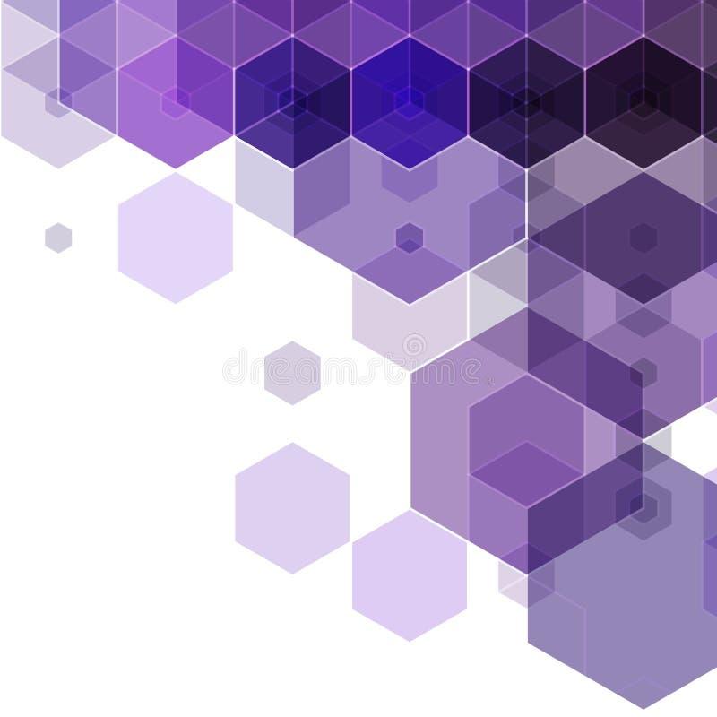 dunkelblauer Hexagonhintergrund Polygonale Art abstrakte Vektorillustration ENV 10 vektor abbildung