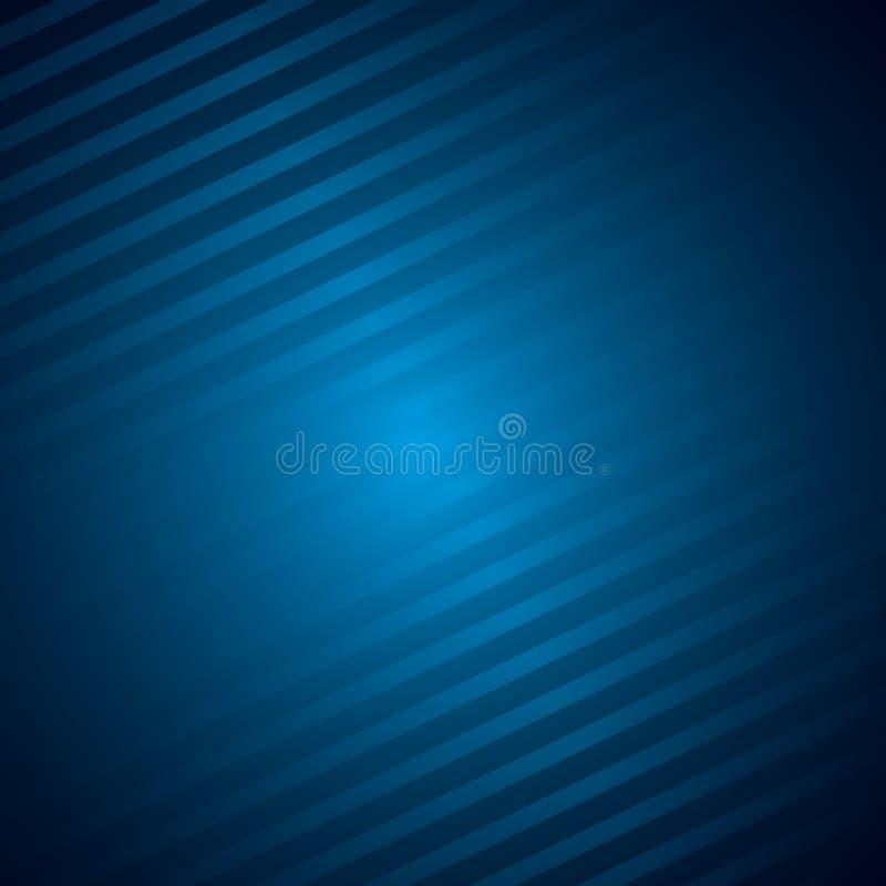 Dunkelblauer metallischer Hintergrund mit Linien stock abbildung