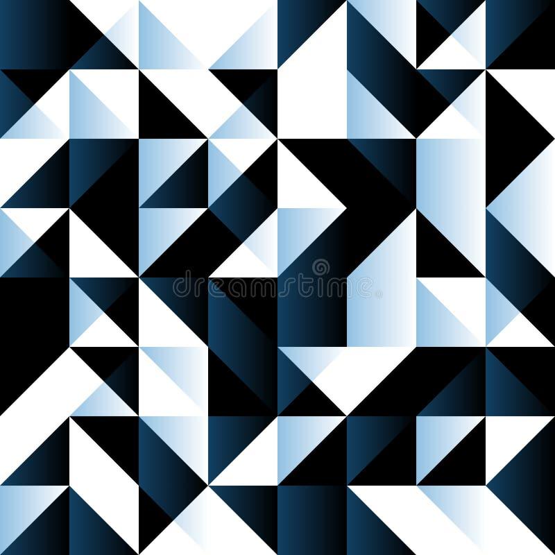 Dunkelblauer nahtloser Hintergrund mit geometrischen Formen stock abbildung