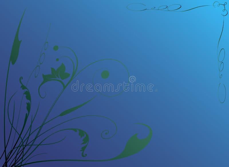 Dunkelblauer vegetativer Hintergrund stockbild