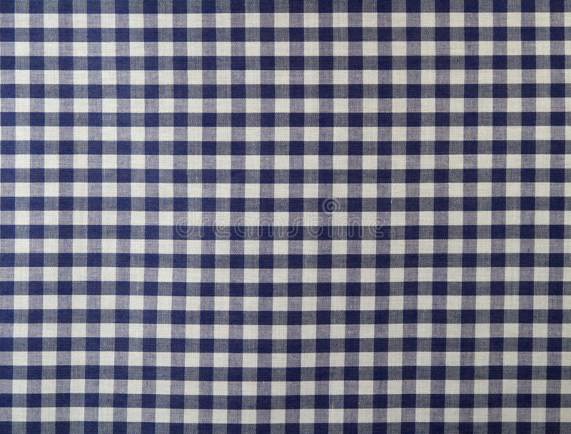 Dunkelblaues checkered Gewebe lizenzfreie stockfotos