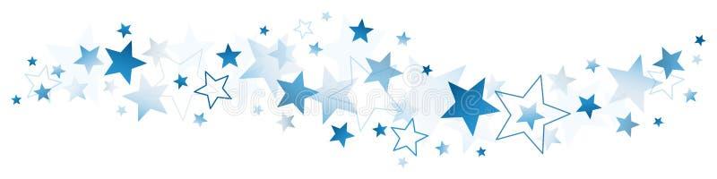 Dunkelblaues großes und kleine Sterne vektor abbildung