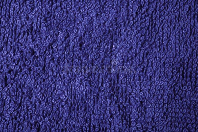 Dunkelblaues Makro der Baumwolltücher stockfoto