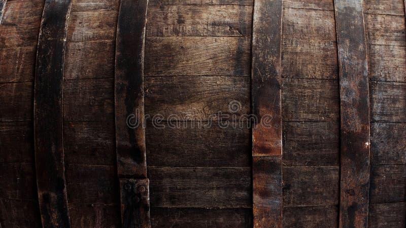 Dunkelbraune Fassnahaufnahme lizenzfreie stockbilder
