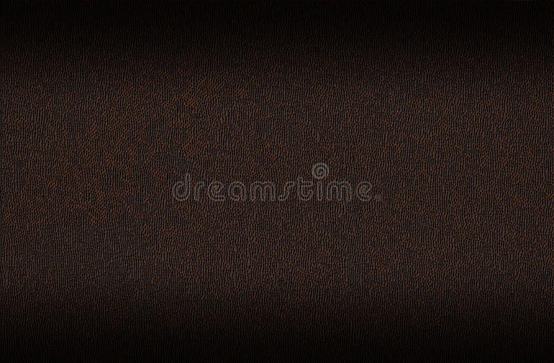 Dunkelbraune lederne Oberfläche für Hintergrund lizenzfreie stockbilder