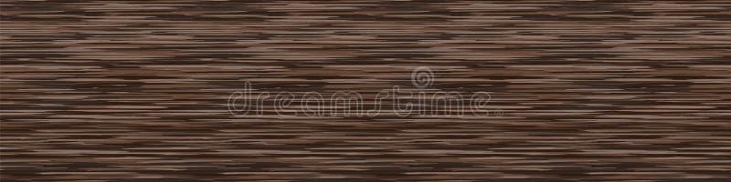 Dunkelbrauner Marl mit verschiedenen Heather Texture Border Background Nahtloses Muster der vertikalen Blended Line Faux T-Shirt  lizenzfreie abbildung