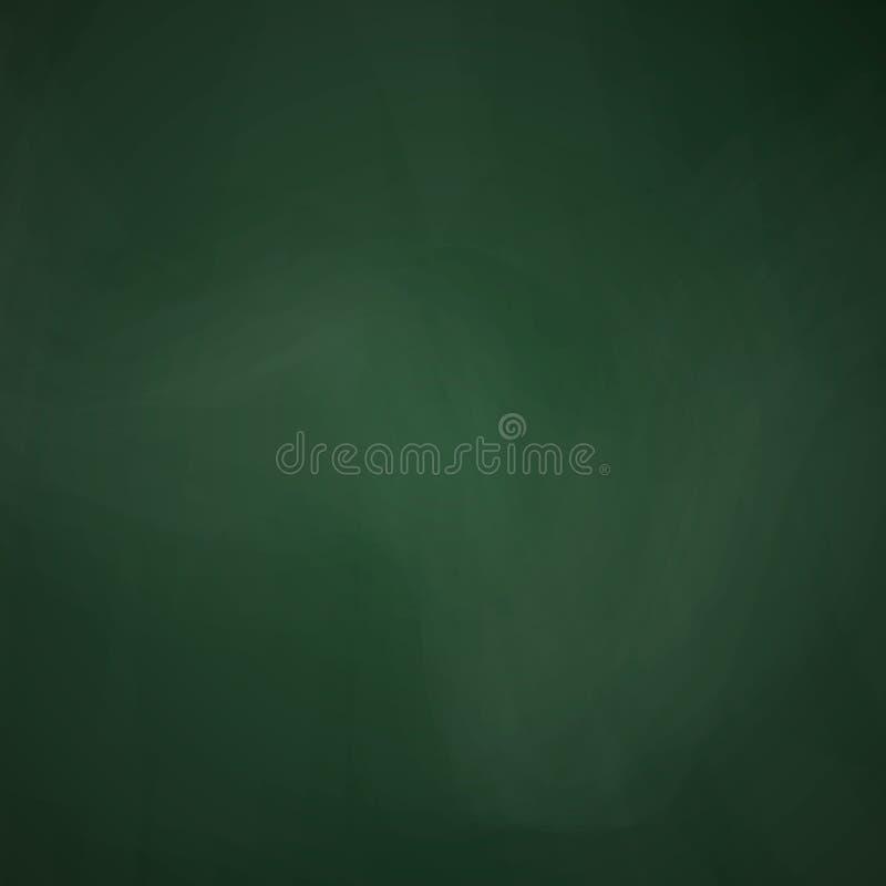 Dunkelgrüne Farbe der leeren Tafel Tafelschablone Realistische Beschaffenheit der Schultafel Bildung und Lernen vektor abbildung