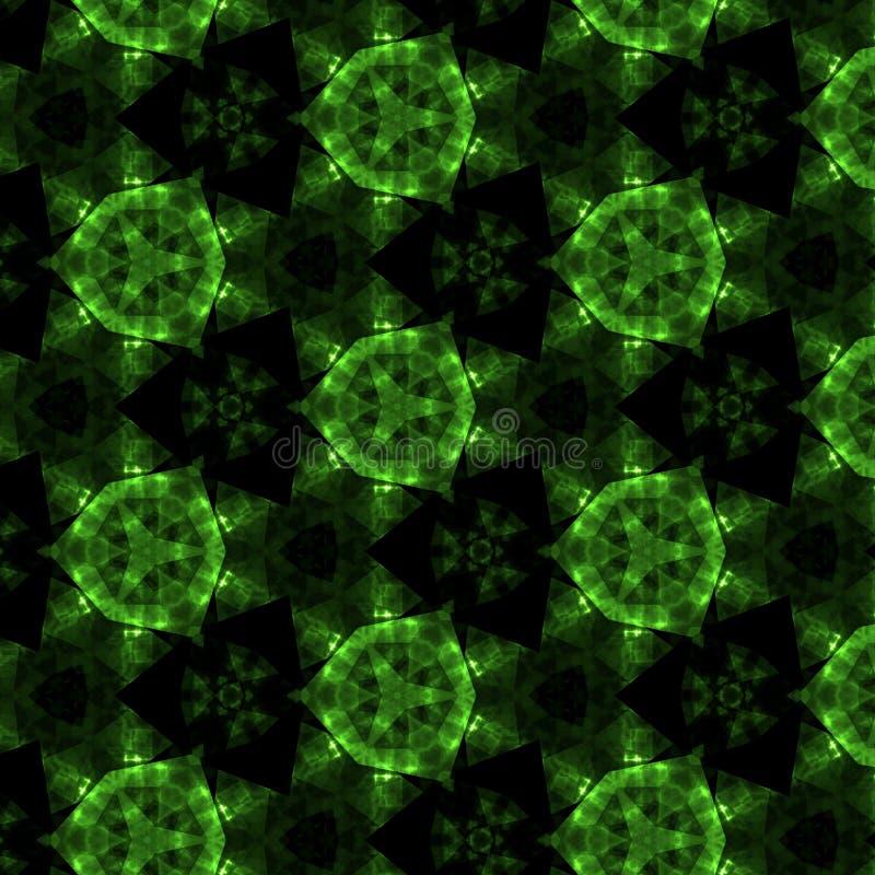 Dunkelgrüner Kristall-caleidoscope Hintergrund stock abbildung