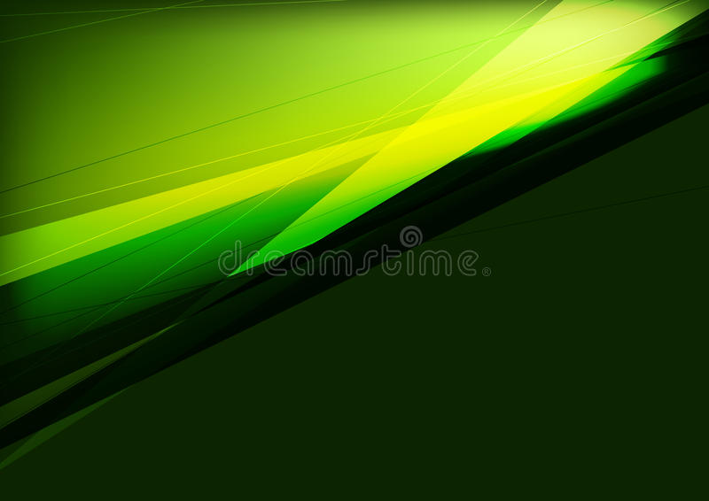 Dunkelgrünes und schwarzes Abstraktionsdesign mit Streifen lizenzfreie abbildung