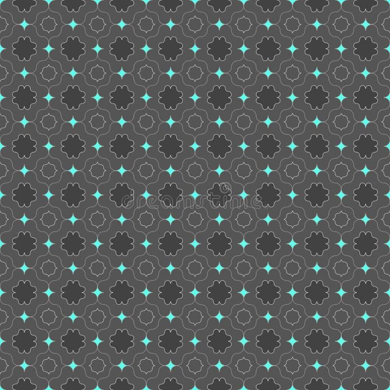 Dunkelgrau gefärbt mit blauen hellen spitzen Quadraten vektor abbildung