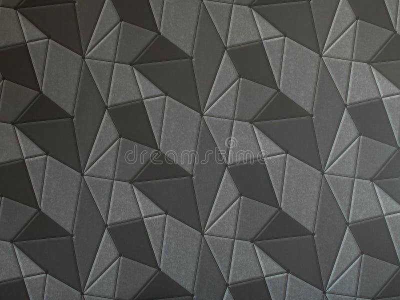 Dunkelgraue geometrische Tapete der Beschaffenheit 3d lizenzfreies stockfoto