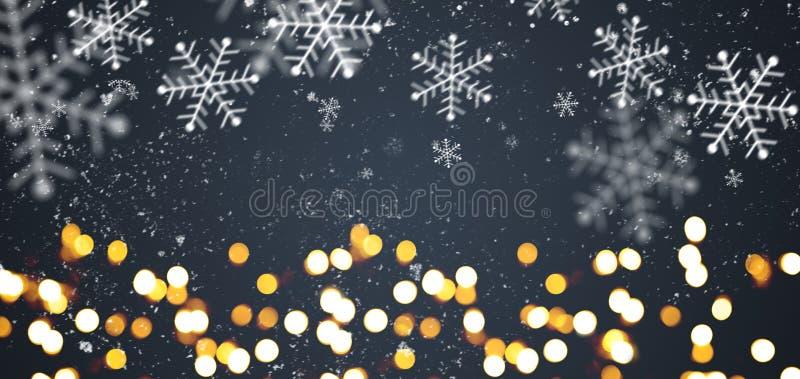 Dunkelgrauer festlicher Weihnachtshintergrund lizenzfreie stockfotos