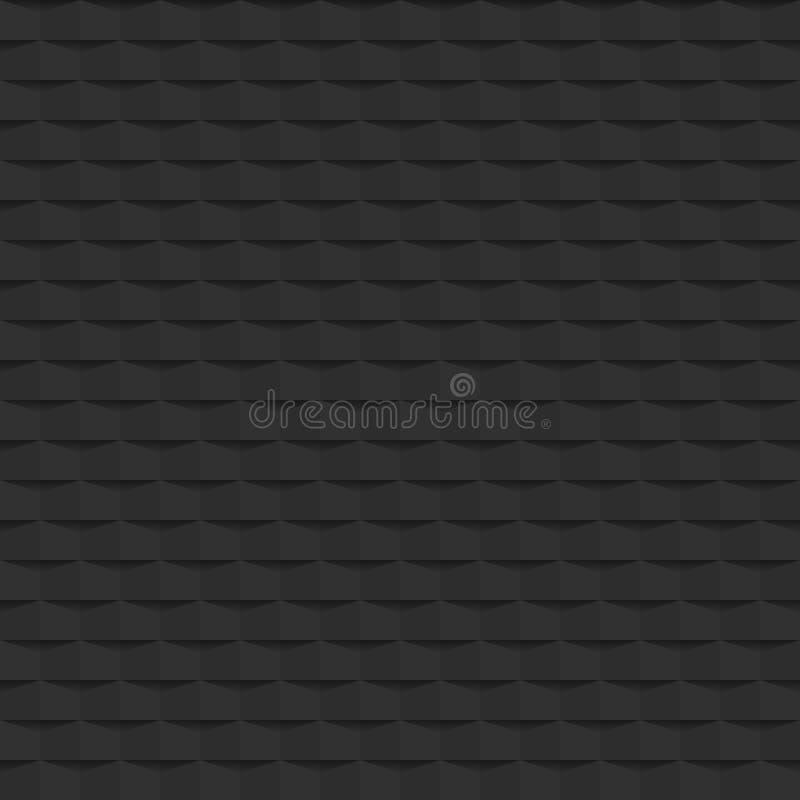 Dunkelgrauer Muster-Beschaffenheitshintergrund der Zusammenfassung 3d geometrischer nahtlose Dekorationsmosaik-Vektorillustration lizenzfreie abbildung