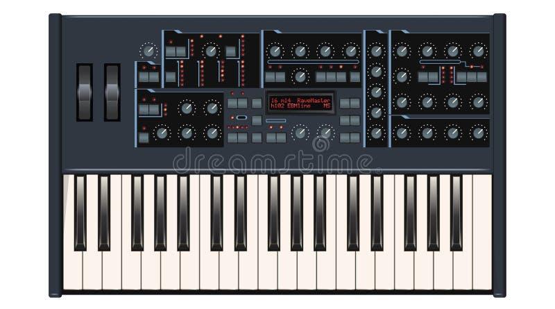 Dunkelgrauer synthesizer vektor abbildung