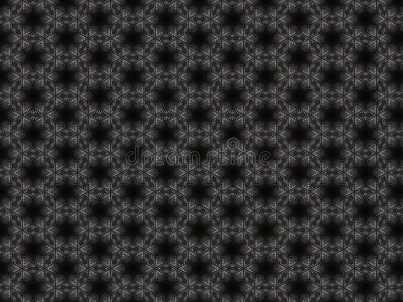 Dunkelgraues ledernes Plaid mit einem genähten Diamantmuster und einem schwarzen Stern vektor abbildung