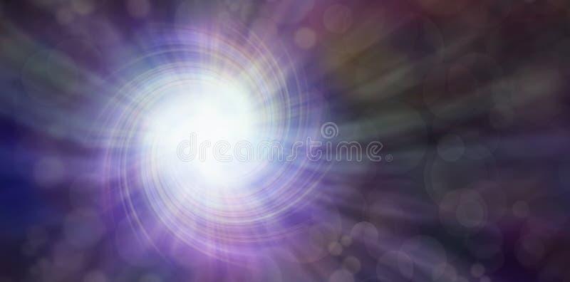 Dunkelheit und Licht stock abbildung