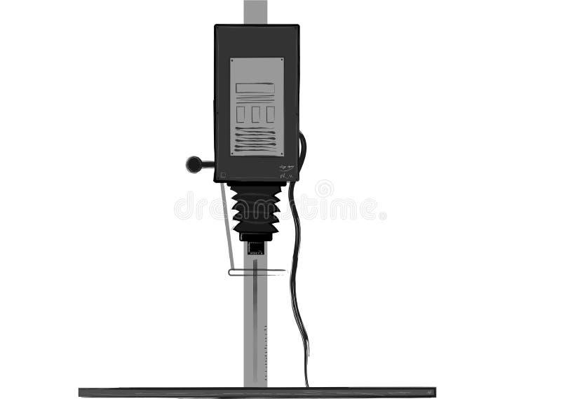 Dunkelkammer-Vergrößerungsgerät-Illustration stock abbildung