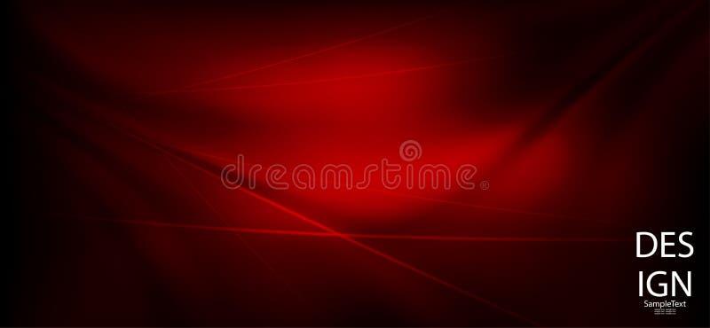 Dunkelrote Zusammensetzung gezeichnet als Angelegenheit mit einem Satz dünnen Linien vektor abbildung