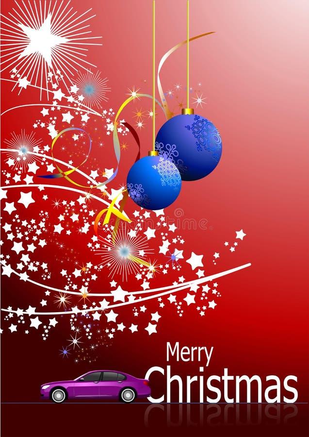 Dunkelroter abstrakter Weihnachtshintergrund stock abbildung