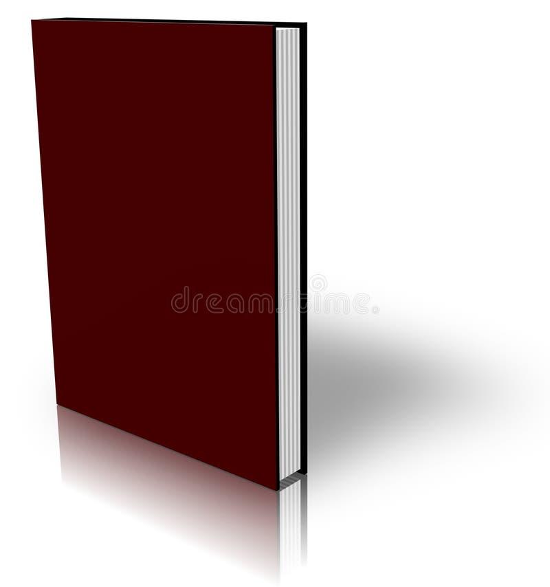 Dunkelrotes Buch auf Weiß lizenzfreie abbildung