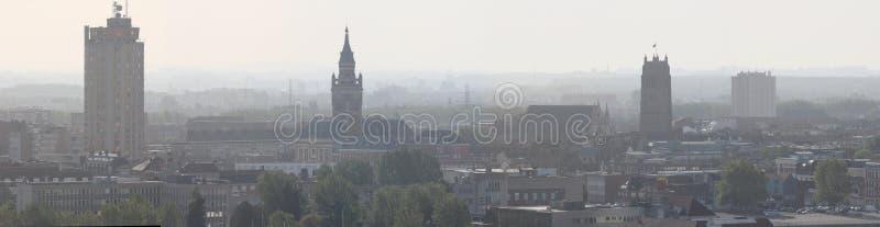 Dunkerque panoramique du centre photographie stock libre de droits